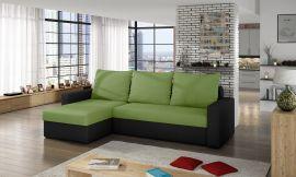 Corner sofa bed Jared-light green