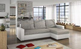 Corner sofa bed Jared-white-grey