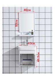 Lorelai Badrum Set inkl. Badrumsskåp Handfat Spegelskåp Kran och Vattenlås