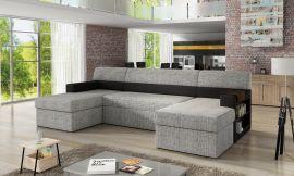 Corner sofa bed Marcelo-black-grey-right