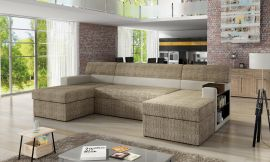 Corner sofa bed Marcelo-light brown-right