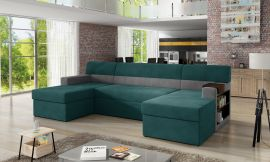 Corner sofa bed Marcelo-green-right