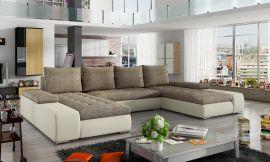 Corner sofa bed Lennon-beige-brown