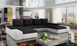 Corner sofa bed Lennon-black-white