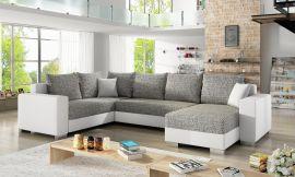 Corner sofa bed Kellan-white-grey-right