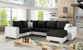 Corner sofa bed Kellan-black-white-right