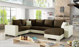 Corner sofa bed Kellan-dark brown-right