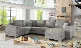 Corner sofa bed Kellan-light grey-right