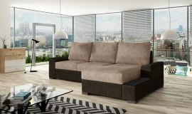 Corner sofa bed Romeo-light brown-right