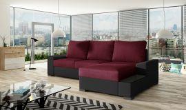 Corner sofa bed Romeo-red-right