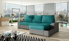 Corner sofa bed Romeo-light blue-right