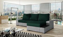 Corner sofa bed Romeo-dark green-right