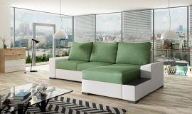 Corner sofa bed Romeo-light green-right