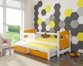 Children bed Portia -orange