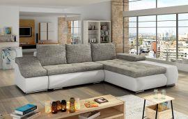 Corner sofa bed Roscoe-white-grey-right