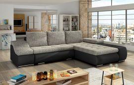 Corner sofa bed Roscoe-black-grey-right