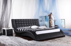 Phoenix Lux Bed 160-180-160x200cm-black