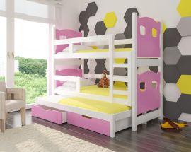 Children bed Gaston-pink