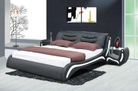 Säng Prato Lux 160-180 svart-vit