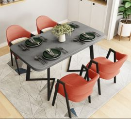 Dinning table set 4 chairs Prime-orange