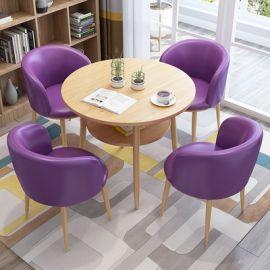 Dinning table set 4 chairs Semira-purple