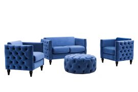 Sofa set Madellin 2+1+1-blue