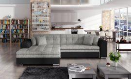 Corner sofa bed Meera-black-grey-left