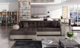 Corner sofa bed Meera-beige-brown-left