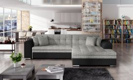 Corner sofa bed Meera-black-grey-right
