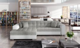 Corner sofa bed Meera-grey-left