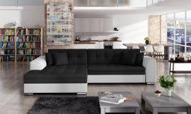 Corner sofa bed Meera-black-white-left