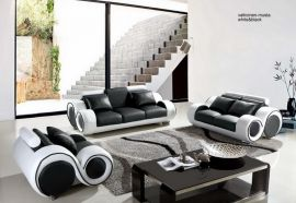 Space 1+2+3 Sofa set-black