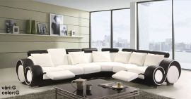 Space Family Corner sofa with foldable table-white