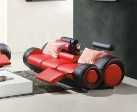 3-seater sofa Space -red