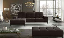 Corner sofa bed Lotte-brown-left