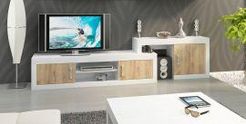 TV-Stand Riny-oak-white